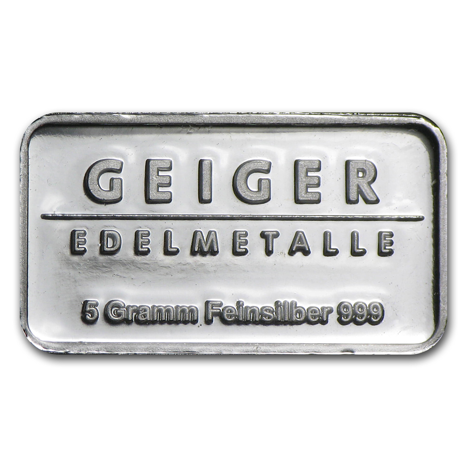 5 gram Silver Bar - Geiger (Security Line Series)